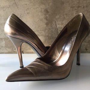 Aldo pewter heels 39